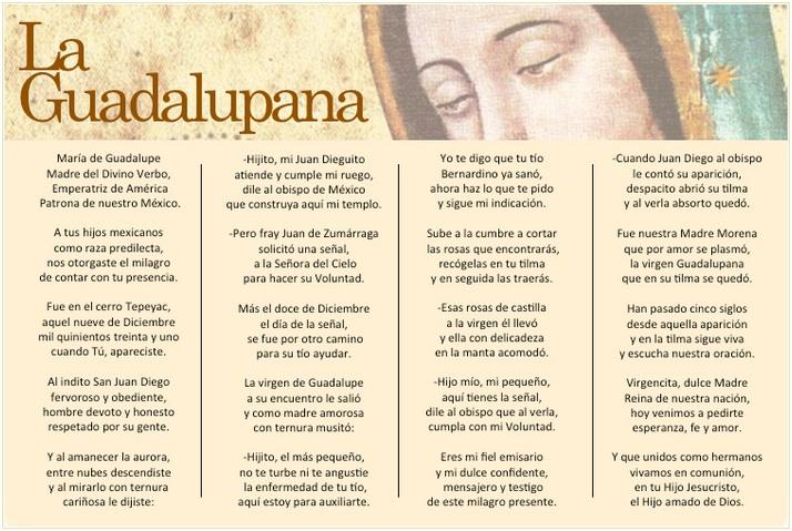 La Guadalupana (poema) | Virgen Peregrina de la Familia